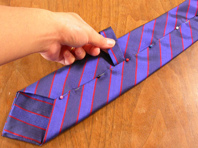 How we make our custom made / bespoke ties