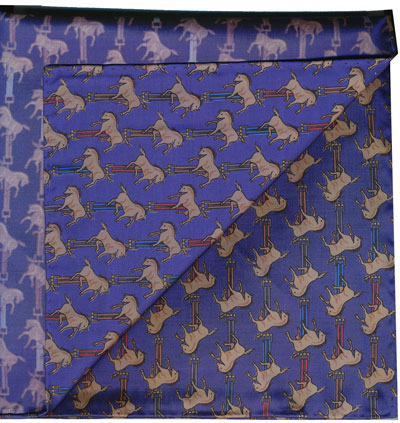 Sangdao Printed Thai Silk Pocket Square