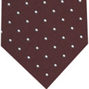 White Dots on Burgundy Pin-Dot Silk Tie #6