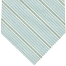 Powder Blue, Blue & White Stripe Cashmere/Cotton Tie #36