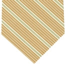 Brown, Off White & Brown Stripe Cashmere/Cotton Tie #37