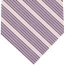 Purple, Soft Pink & Off White Stripe Cashmere/Cotton Tie #38