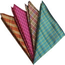Thai Plaid Silk Pocket Squares