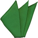 Bottle Green Grenadine Silk Pocket Square #17