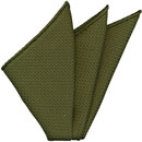 Olive Green Grenadine Silk Pocket Square #18