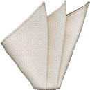 White Grenadine Silk Pocket Square #24