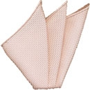 Pink/Silver Grenadine Silk Pocket Square #25