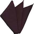 Dark Purple Grenadine Silk Pocket Square #35