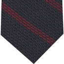 Red Stripe On Midnight Blue Grenadine Tie #1