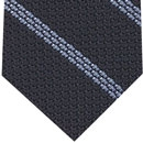 Powder Blue Stripe On Midnight Blue Grenadine Tie #4