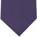 Dark Purple Diamond Weave Silk Tie #10