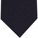 Macclesfield Challis Midnight Blue Solid Wool Tie #4