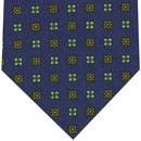 Challis Macclesfield Navy Pattern Wool Tie #2
