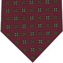 Challis Macclesfield Dark Red Pattern Wool Tie #3