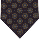 Challis Macclesfield Midnight Blue Pattern Wool Tie #4