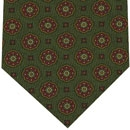 Challis Macclesfield Green Pattern Wool Tie #6