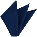 Dark Blue Grenadine Fina Silk Pocket Square # 13