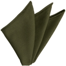 Olive Green Grenadine Fina Silk Pocket Square # 18