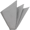Charcoal Gray/Silver Grenadine Fina Silk Pocket Square # 21