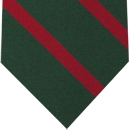 60th Foot the King's Royal Rifle Corps Stripe Silk Tie # 42