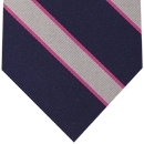 Pembroke College Oxford Stripe Silk Tie # 10