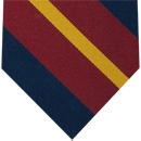 1st King Dragoon Guards Stripe Silk Tie #7