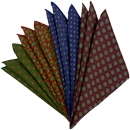 Challis Pattern Wool Pocket Squares
