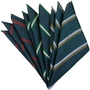 Grenadine Grossa Stripe Silk Pocket Squares