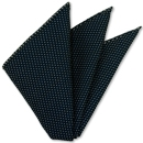 White On Midnight Blue Grenadine Pin Dot Silk Pocket Square #1