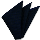 Royal Blue on Midnight Blue Grenadine Pin Dot Silk Pocket Square #4