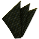 Yellow Gold on Midnight Blue Grenadine Pin Dot Silk Pocket Square #6